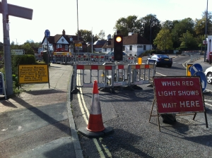 Horndean roadworks