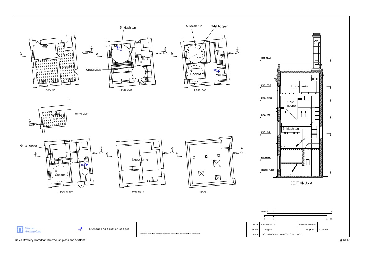 The gales brewery tower horndeanmatters for Brewery floor plan