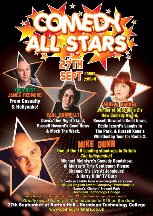 Comedy Allstars 27 Sept