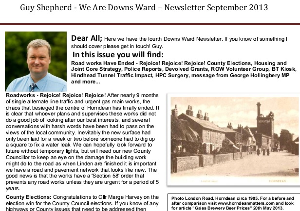 September Newsletter extract