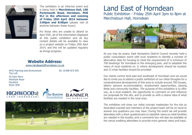 Land East Of Horndean Consultation 1