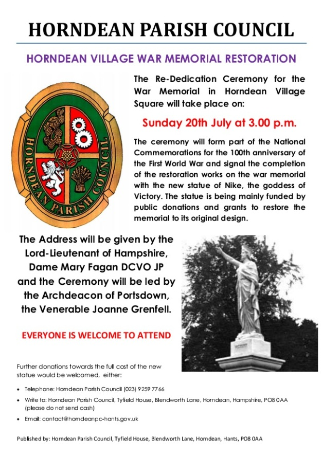 War Memorial Rededication