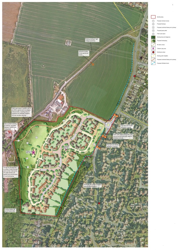 Horndean Illustrative Masterplan Rev C
