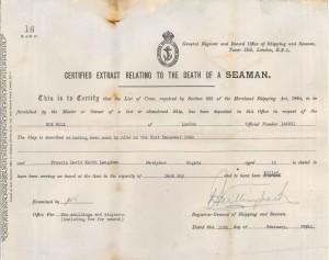 Langdown Registered death