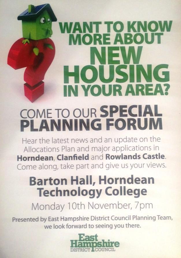 EHDC Planning Forum 10 Nov 2014