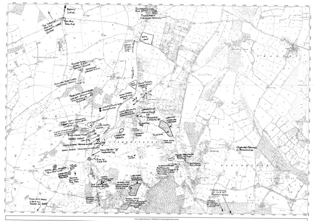 Horndean War Map