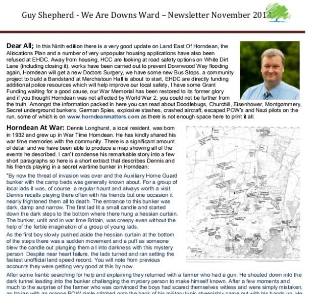 Nov 2014 newsletter extract