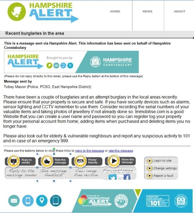 Burglary Alert May 2015