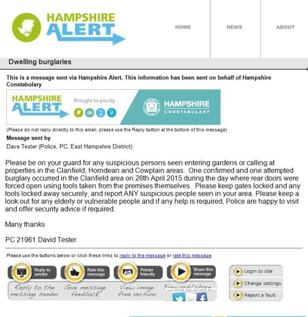Hampshire Alert 2