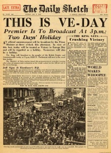 VE Day Front Page