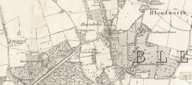 Horndean Map 1870 - 1880