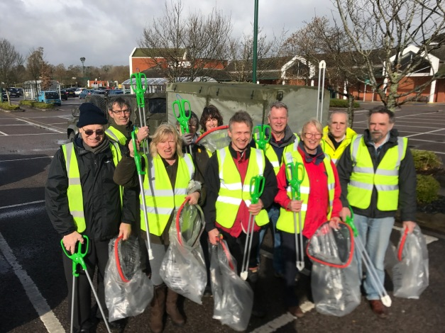 Litter Pick With New Tools 5th March.JPG