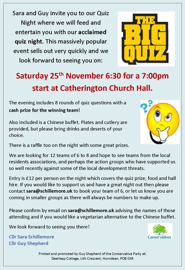 25 Nov Quiz Night Returns! | horndeanmatters