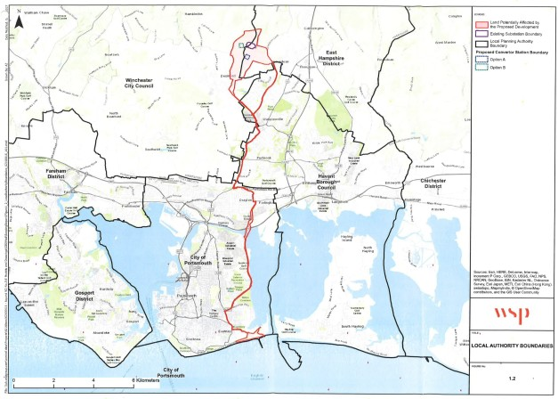 Aquind Cable Route overall Mar 2018