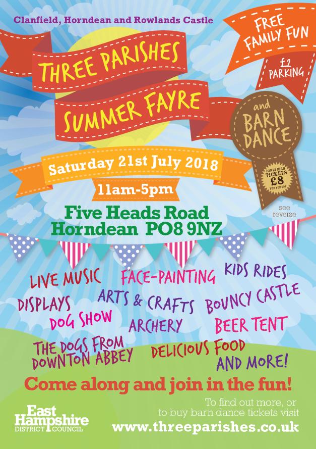 3 parishes summer fayre 2018 leaflet