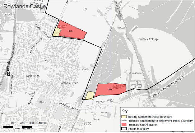 Local plan review 2017 - 2036 Rowlands Castle Map 2.png